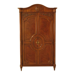 Karges French Louis XV Style Walnut Bedroom Armoire For Sale