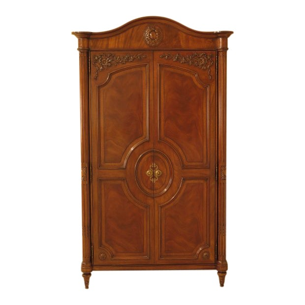 Karges French Louis XV Style Walnut Bedroom Armoire