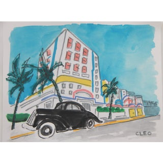 Miami Beach Landscape Cityscape Painting by Cleo Plowden For Sale