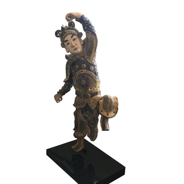 Chinese Early 20th Century Chinese Standing Roof Tile Figure on Stand For Sale - Image 3 of 4