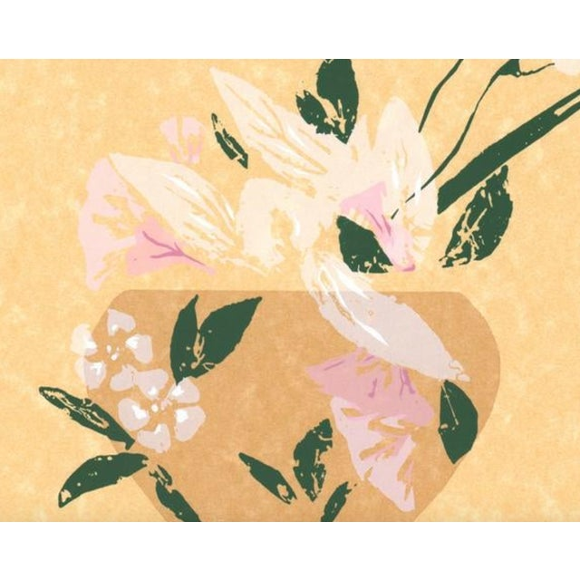 Japanese 1980s Modern Asian Style Still Life Serigraph For Sale - Image 3 of 5