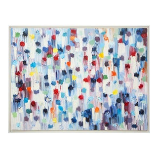 """""""Dripping Dots -Shanghai"""" 2018 Oil on Canvas 'Framed' by Cindy Shaoul For Sale"""