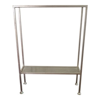 Worlds Away Porter Silver Leaf Side Table For Sale