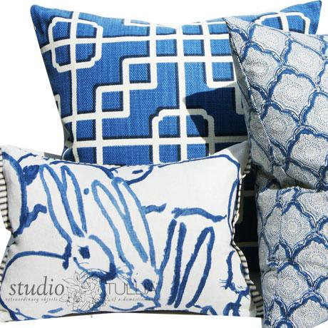 Blue Bunny Lumbar Pillow For Sale In Portland, OR - Image 6 of 8