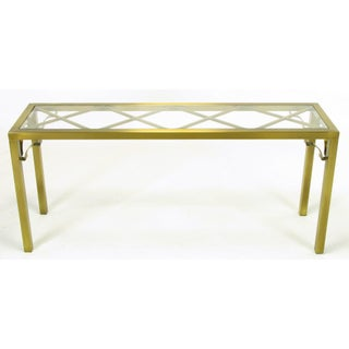 Mastercraft Brass Chinese Chippendale Console Table Preview