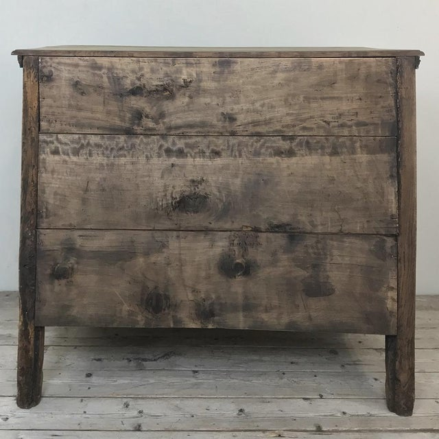 18th Century French Louis XVI Stripped Oak Commode For Sale - Image 12 of 13
