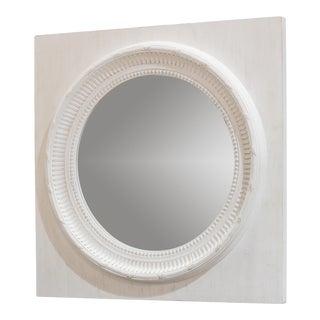 Sarreid Circle Squared Mirror, Off White For Sale