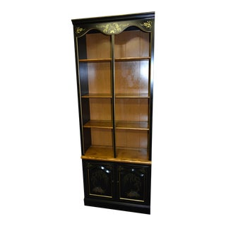 Vintage Ethan Allen Americana Style Two Tone Bookcase For Sale