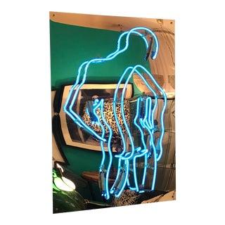 Bob Glarmo Neon Artist, Male Figure in Blue For Sale