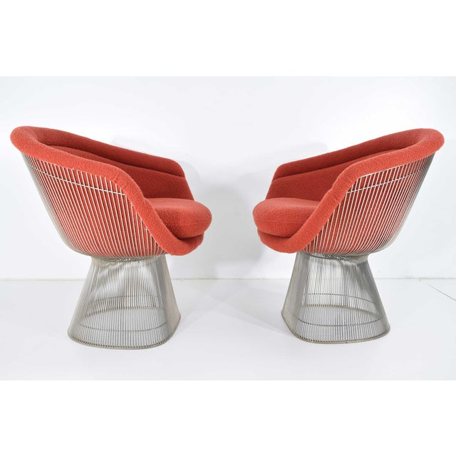 Metal 1960s Warren Platner Nickel Plated Lounge Chairs - a Pair For Sale - Image 7 of 10