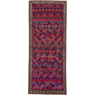 "Vintage Persian Hamadan Rug – Size: 3' 10"" X 9' 7"" For Sale"