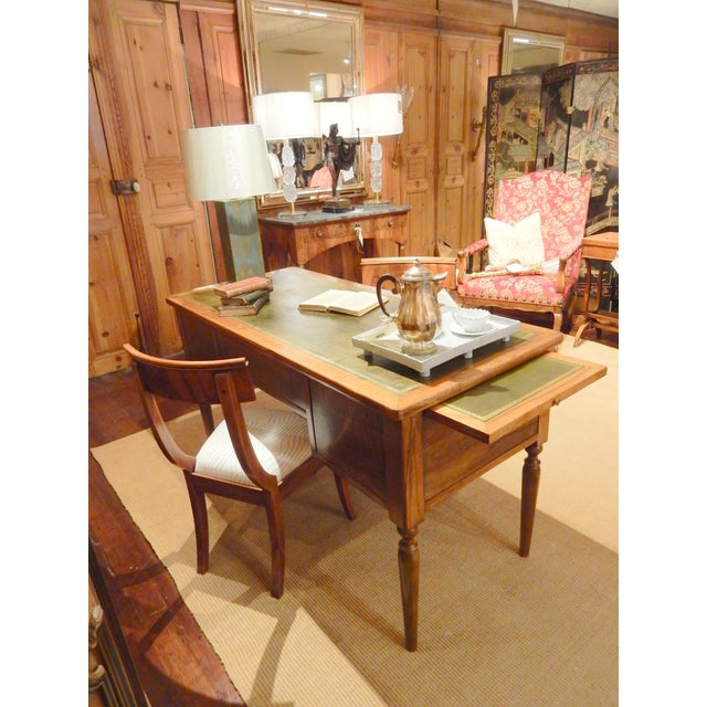 19th C. French Leather Top Desk For Sale - Image 9 of 12