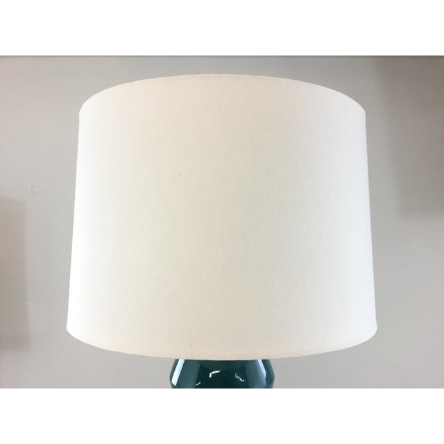 Arteriors Home Arteriors Modern Teal Crackle Ceramic Tonto Table Lamp For Sale - Image 4 of 6