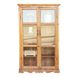 Image of 19th Century Bleached Teak Glass Cabinet For Sale