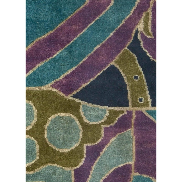 """Bold Vintage French Art Deco Rug Size: 5'9"""" × 7'3"""" (175 × 220 cm) This, circa 1940 vintage French Art Deco rug features an..."""