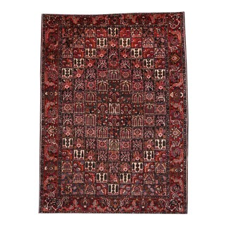 Antique Persian Bakhtiari Rug with Four Seasons Garden Design