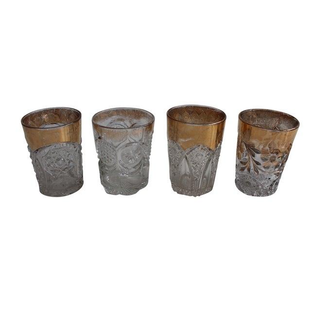 Vintage Prescut Gold Rimmed Glasses - Set of 4 For Sale