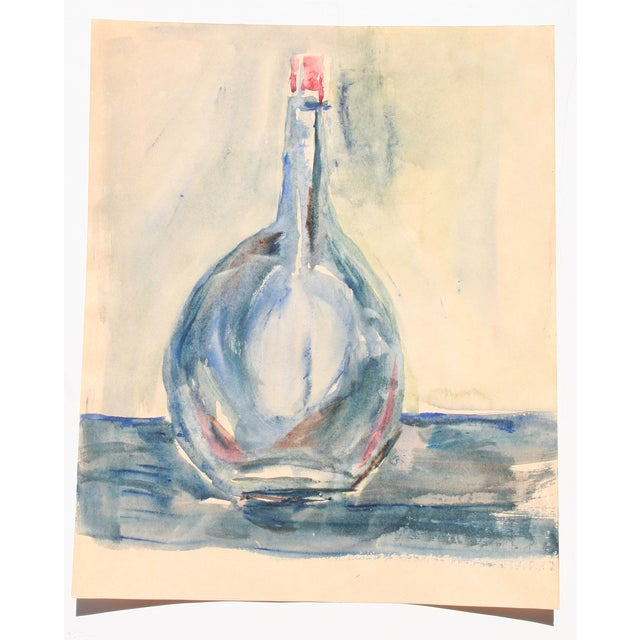 Blue Bottle Watercolor Painting by Kathryn Bernard - Image 2 of 4