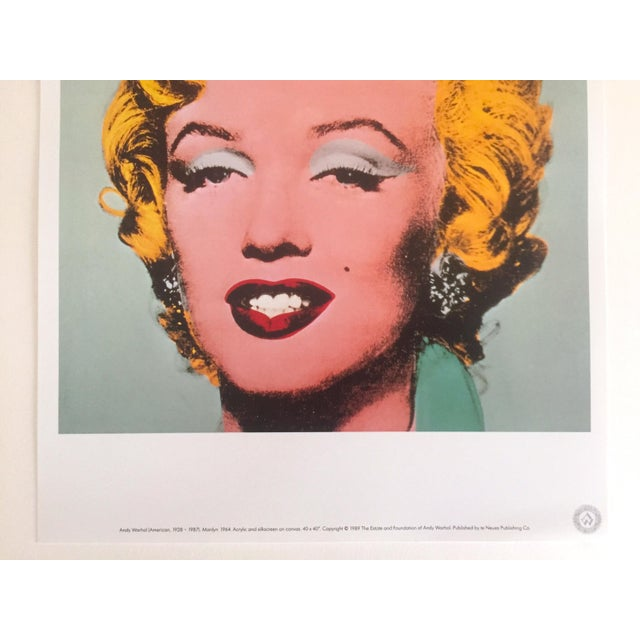 """Hollywood Regency Andy Warhol Estate Rare Vintage 1989 Collector's Pop Art Lithograph Print """" Marilyn """" 1964 For Sale - Image 3 of 10"""