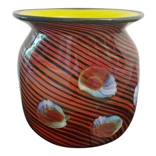Vintage 1970s Italian Murano Glass Vase For Sale