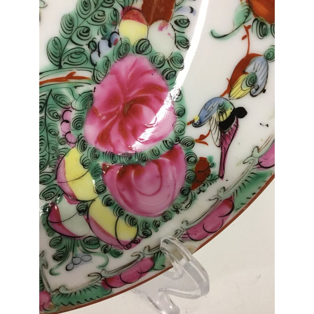 1940s Asian Hand Painted Decorative Plate For Sale In Boston - Image 6 of 10