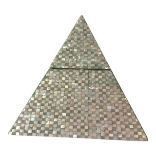 Pyramid Mother of Pearl Storage Box For Sale