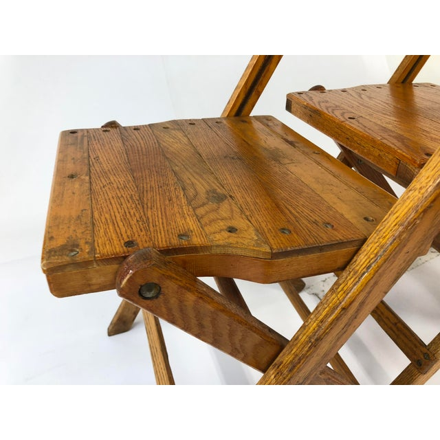 Brown Vintage Wood Folding Chairs by Snyder - Set of 4 For Sale - Image 8 - Vintage Wood Folding Chairs By Snyder - Set Of 4 Chairish
