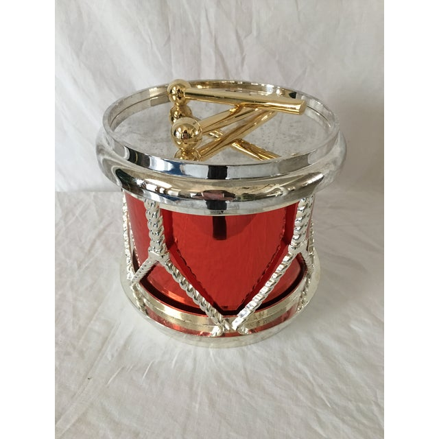 Godinger Silverplate Drum Ice Bucket For Sale In Chicago - Image 6 of 6
