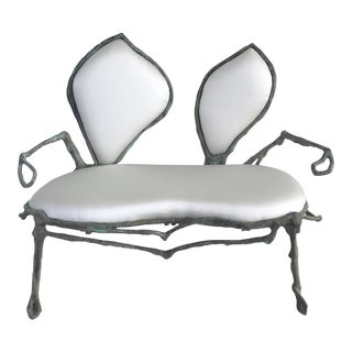 "Biomorphic Sculptural ""Sebastian"" Settee by Zuckerhosen"