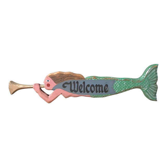 Vintage Mermaid Welcome Sign For Sale