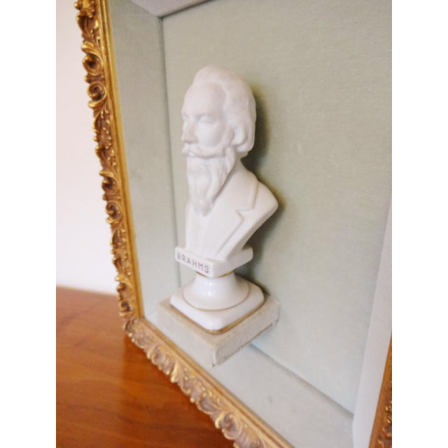 Framed Bust Portraits of Classical Composers - Set of 3 For Sale In Saint Louis - Image 6 of 13