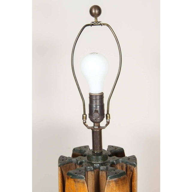 Contemporary Shuttle Barrel Table Lamp For Sale - Image 3 of 6
