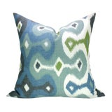 Image of Martyn Lawrence Bullard for Schumacher Ikat Pillow Covers - a Pair For Sale