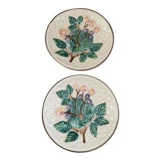 Vintage 1980s Italian Majolica Plates for Bergdorf Goodman For Sale