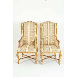 20th Century Giltwood Frame Bergeres Chairs / Side Armchairs - a Pair Preview