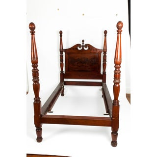 Mid-19th Century Empire Style Mahogany Four Poster Single Bed Preview