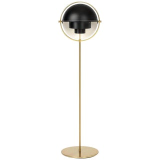Louis Weisdorf 'Multi-Lite' Floor Lamp in Black and Brass