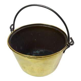 19th-Century Brass Bucket