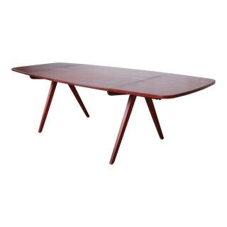 Poul Volther Danish Modern Teak Scissor Leg Dining Table, Circa 1950 For Sale