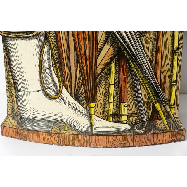 Vintage Piero Fornasetti (1913-1988) Tole Umbrella Stand For Sale In West Palm - Image 6 of 11
