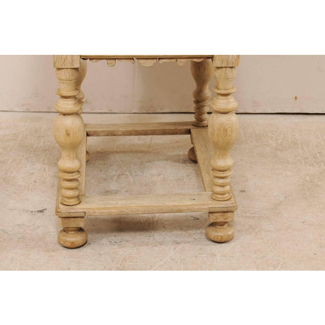 Baroque 18th Century Swedish Period Baroque Wood Side Table on Turned Legs For Sale - Image 3 of 12