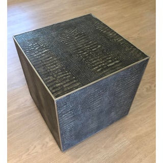 Contemporary Theodore Alexander Cube Side Table Preview