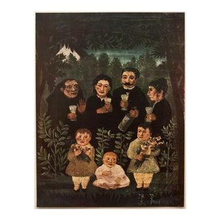 """1951 Original """"La Famille"""" Photogravure by Henri Rousseau For Sale"""