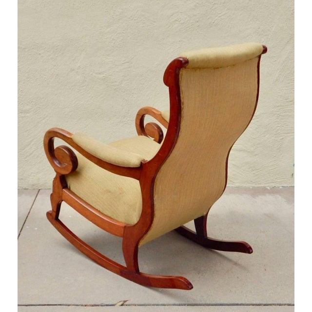 Wood 19th Century Antique Swedish Biedermeier Rocking Chair For Sale - Image 7 of 13