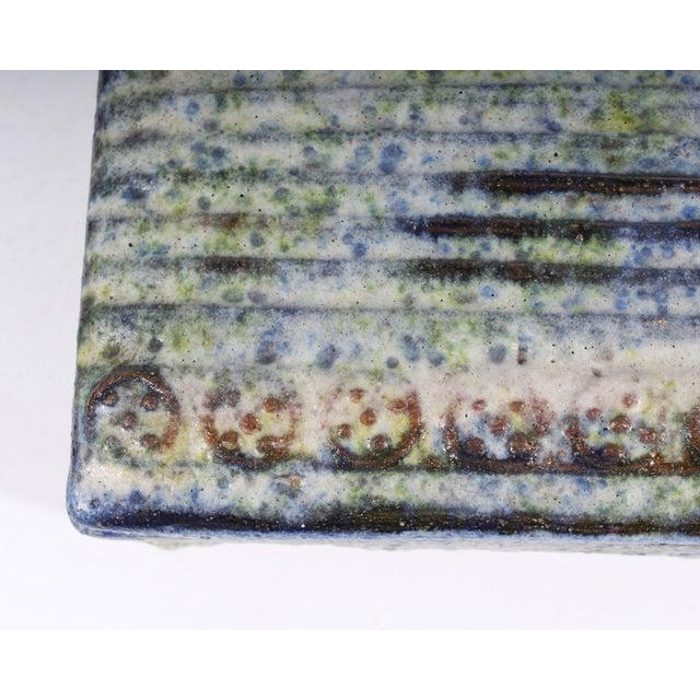 Ceramic Alvino Bagni for Raymor Italian Mid-Century Blue and Green Dresser Box For Sale - Image 7 of 9