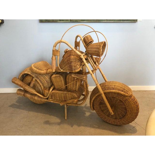 Vintage Wicker Motorcycle - Image 7 of 8
