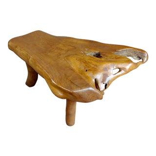 Hand-Carved Vintage Teak Root Tree Coffee Table For Sale