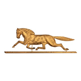 1990s Gold Horse Hanging Wall Ornament For Sale