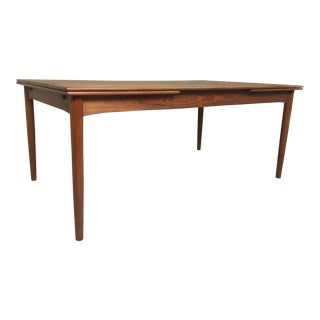 Danish Modern Teak Extension Dining Table by Soborg Mobler