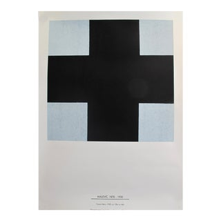 "1980's (Reissue From the 1920 Poster) Italian Exhibition Poster, Kazimir Malevich (1878 - 1935) - ""Croce Nera"" For Sale"